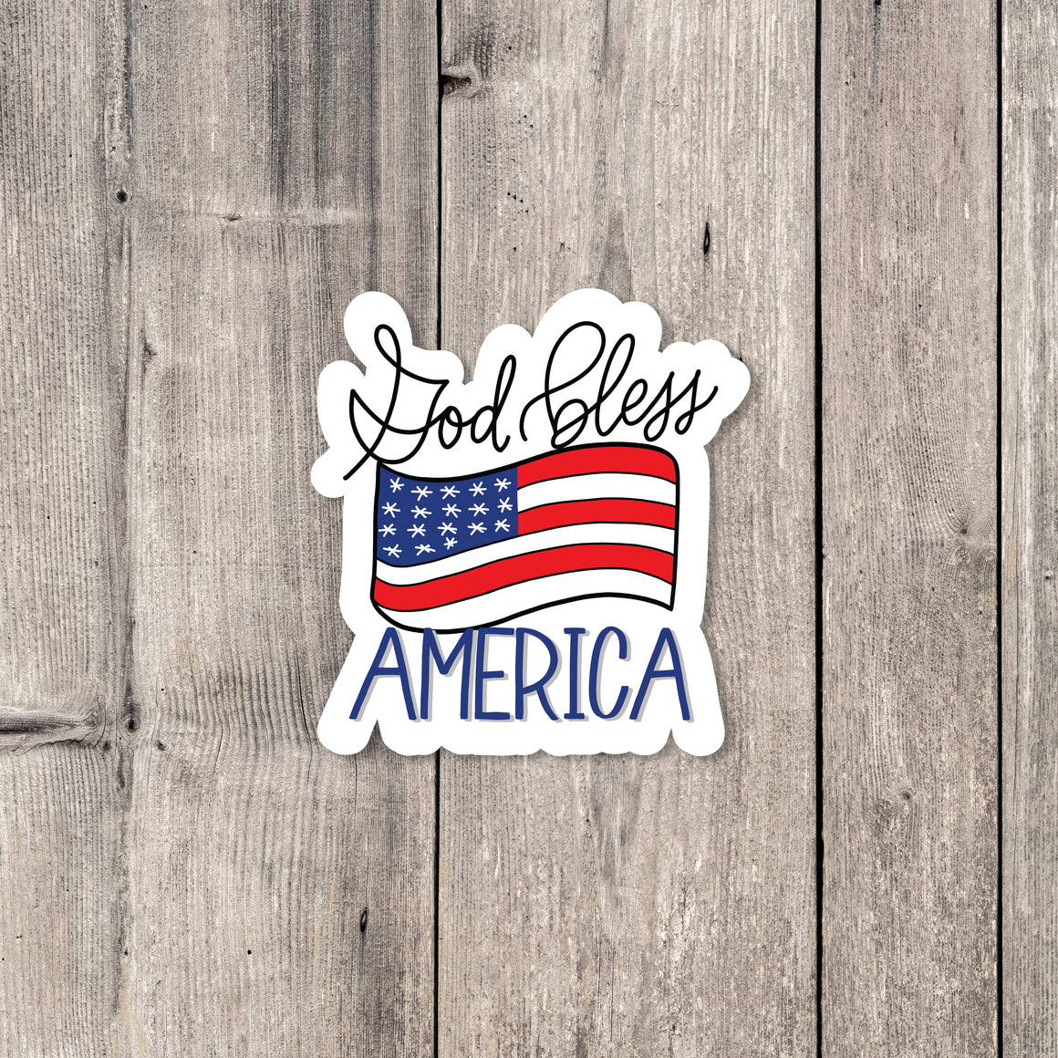 """God Bless America"" sticker"