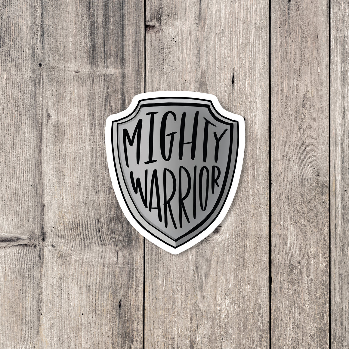 """Mighty Warrior"" sticker"