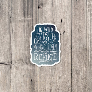 """Refuge"" sticker"