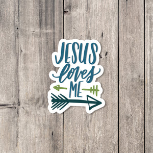 """Jesus Loves Me"" (Arrows) sticker"
