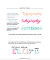Hand Lettering How-To and Practice Guide