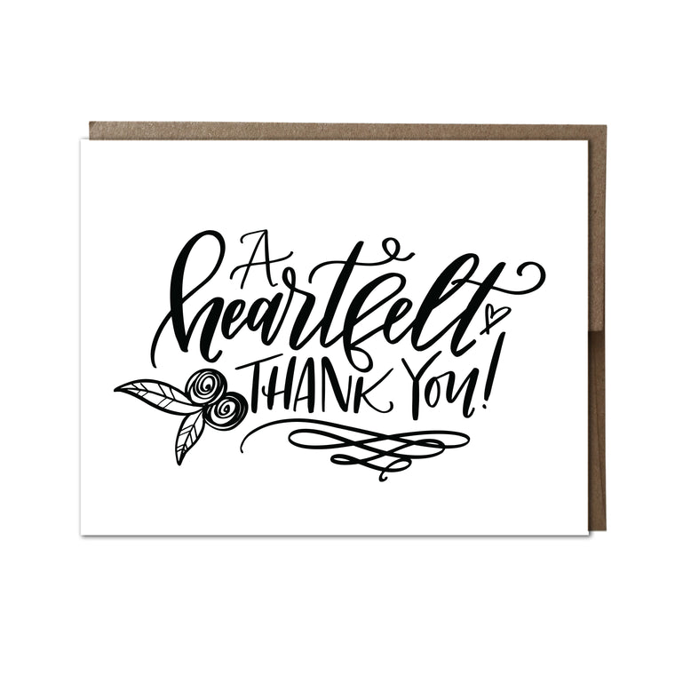 """A Heartfelt Thank You"" card"