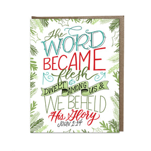 """The Word Became Flesh"" card"