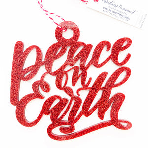 """Peace on Earth"" Ornament - Wholesale"