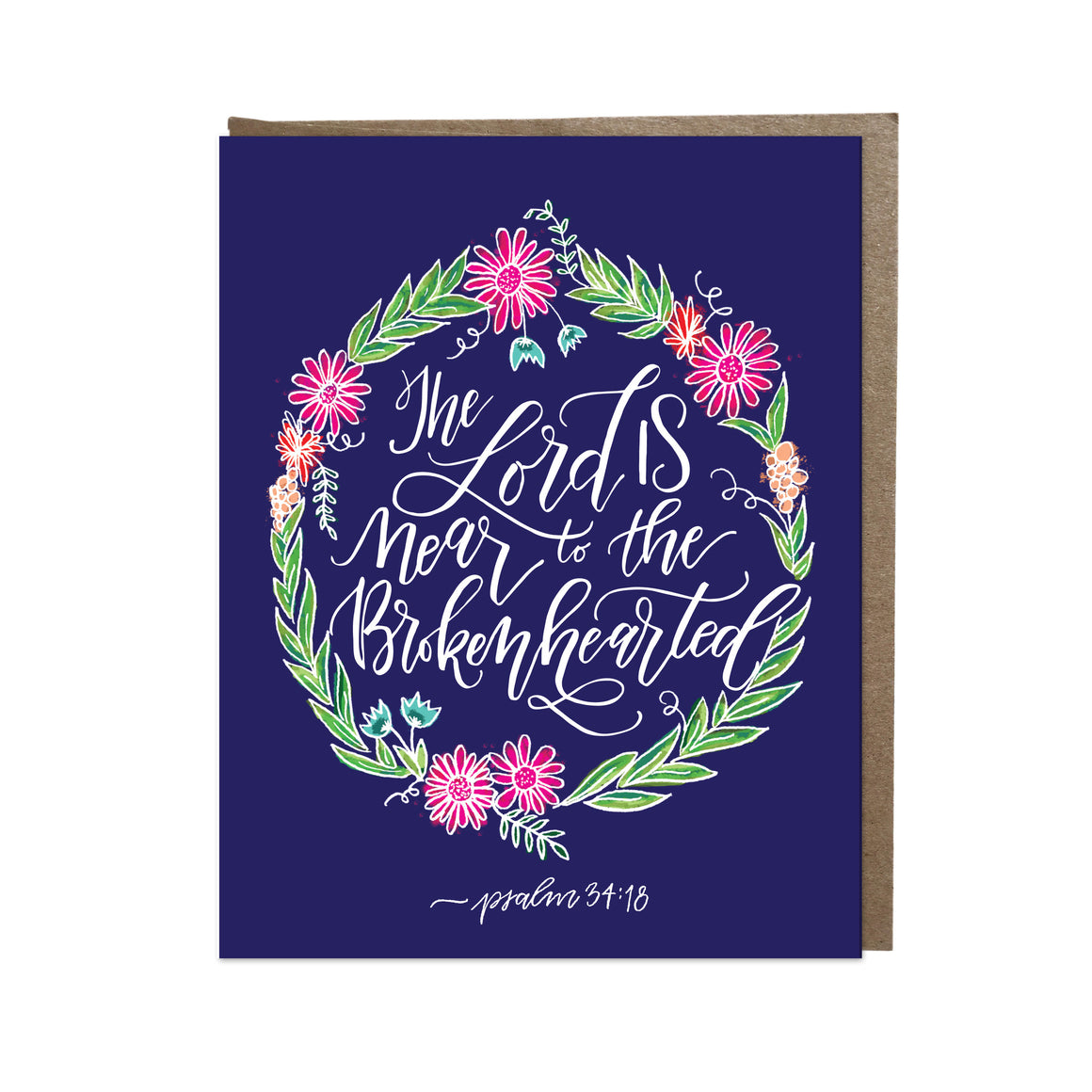 """Near to the Brokenhearted"" card"