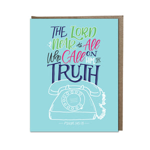 """Call on Him in truth"" card"