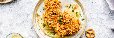 Pretzel Crusted Cauliflower Steaks