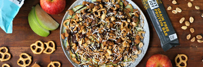 Sweet & Salty Apple Pretzel Nachos
