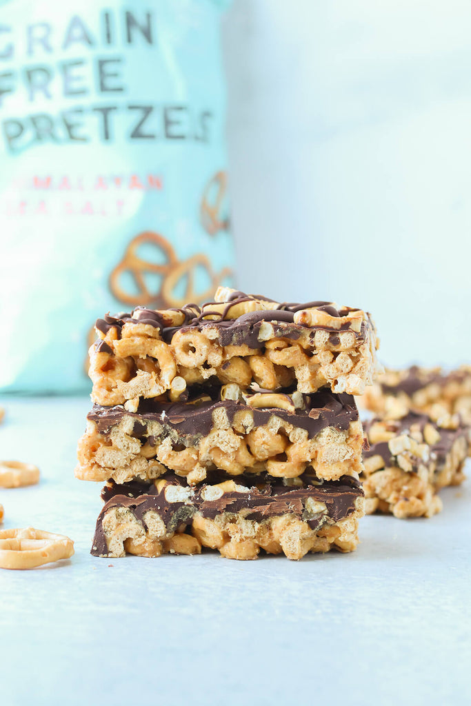 fitjoy pretzels and chocolate cereal bars