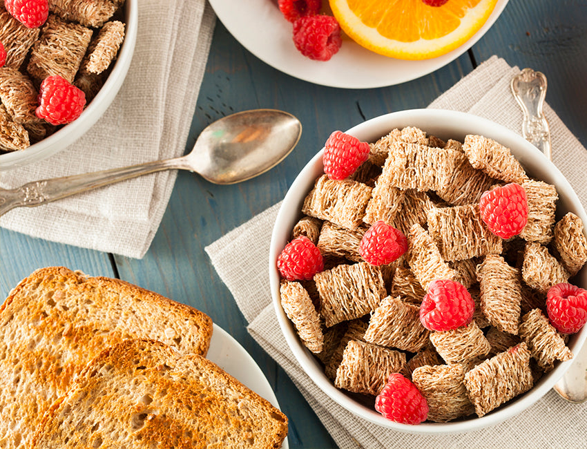 shredded wheat cereal with whole wheat toast