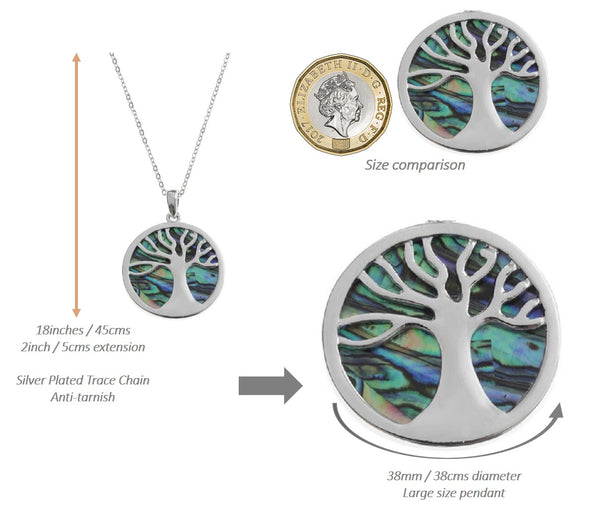 'Family Tree' Abalone Necklace - Tree of Life