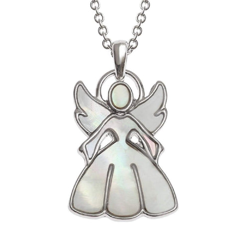 'A Little Guardian Angel' Mother of Pearl Necklace