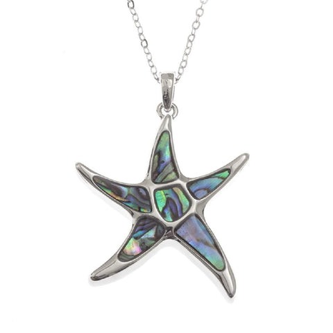 BellaMira Abalone Starfish Necklace Gift Boxed