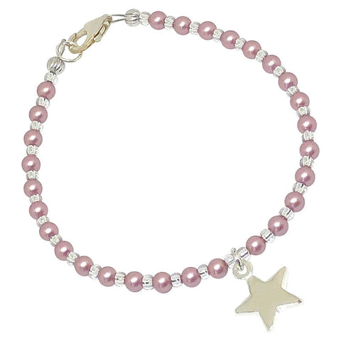 BellaMira Crystal Pearl Necklace Bracelet Earrings Made With Swarovski Elements - 925 Sterling Silver Fine Jewellery Gift Boxed (Crystal Powder Rose Pearl Star Bracelet)