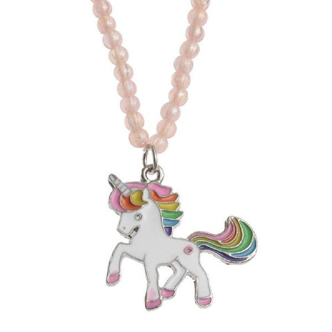 Pink Unicorn Necklace