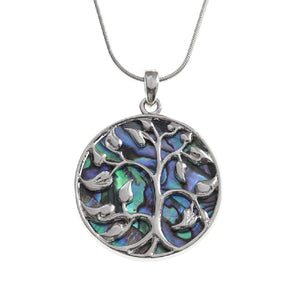 'Family Tree' Abalone Necklace - Tree of Life (Large)