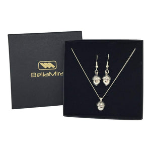'Fruit of the Oak' Acorn Necklace & Earrings Jewellery Set