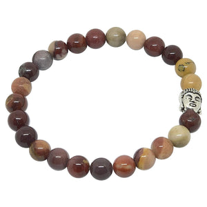 'Courage and Grace' Mookaite Jasper Buddha Bracelet