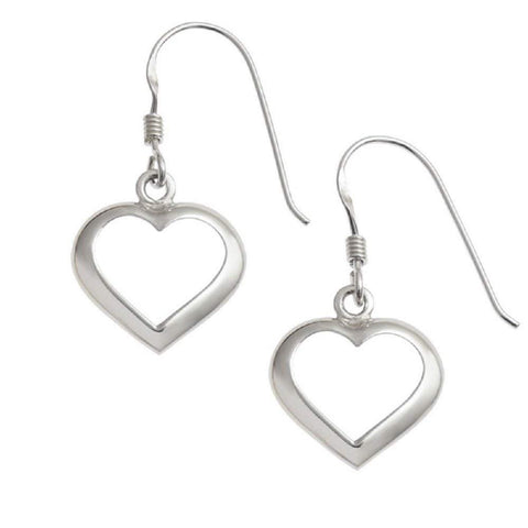 'My Love' 925 Sterling Silver Heart Dangle Earrings Fine Jewellery for Women Girls in Retail Gift Box