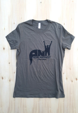 Women's slug shirt - army