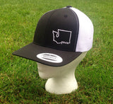 PNW - Black & White, Trucker Hat (snapback)