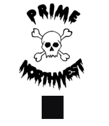Prime Northwest skull sticker