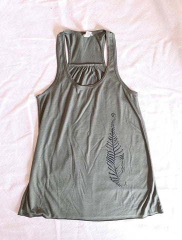 Women's fern tank top