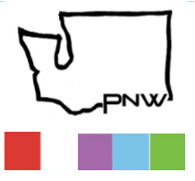 PNW Washington vinyl sticker -small