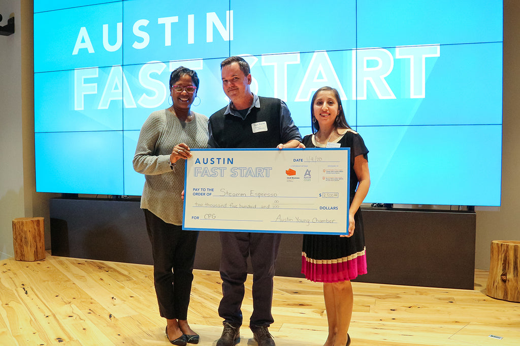 Steamm Espresso Wins Austin Fast Start Pitch Finals