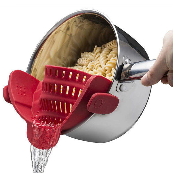 Silicone Colander/Strainer for Pot/Pan/Bowl