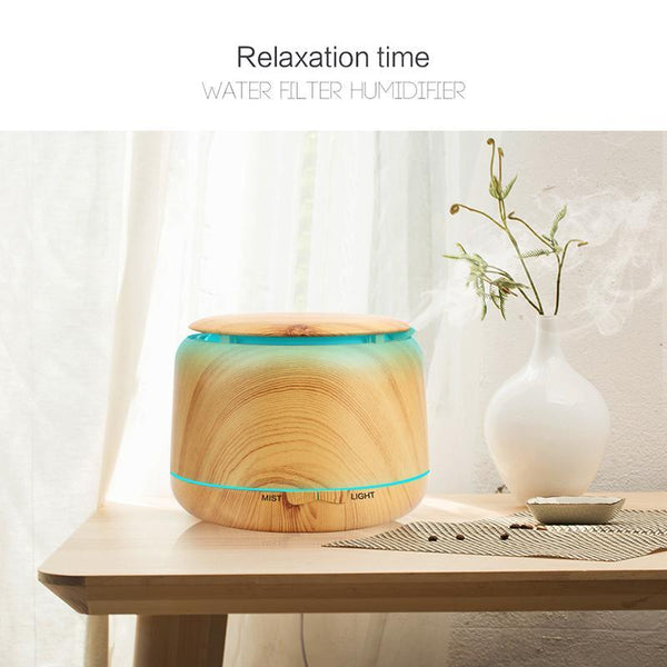 300ml Wood Grain Essential Oil Diffuser Model C