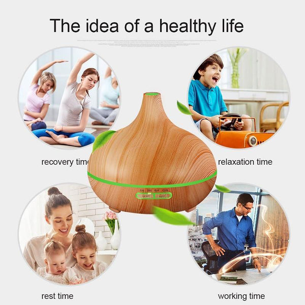 300ml Wood Grain - Cool Mist Diffuser
