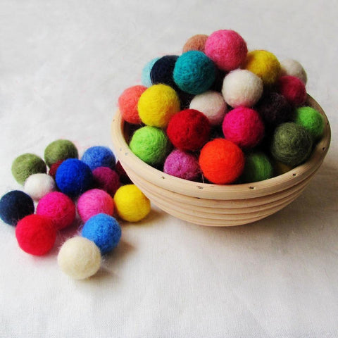 20mm Multicolored Felt Ball