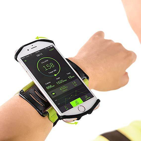 180° Rotatable Armband/Wristband Smartphone Holder