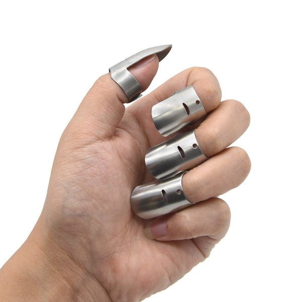 4pc Stainless Steel Finger Knife Guard