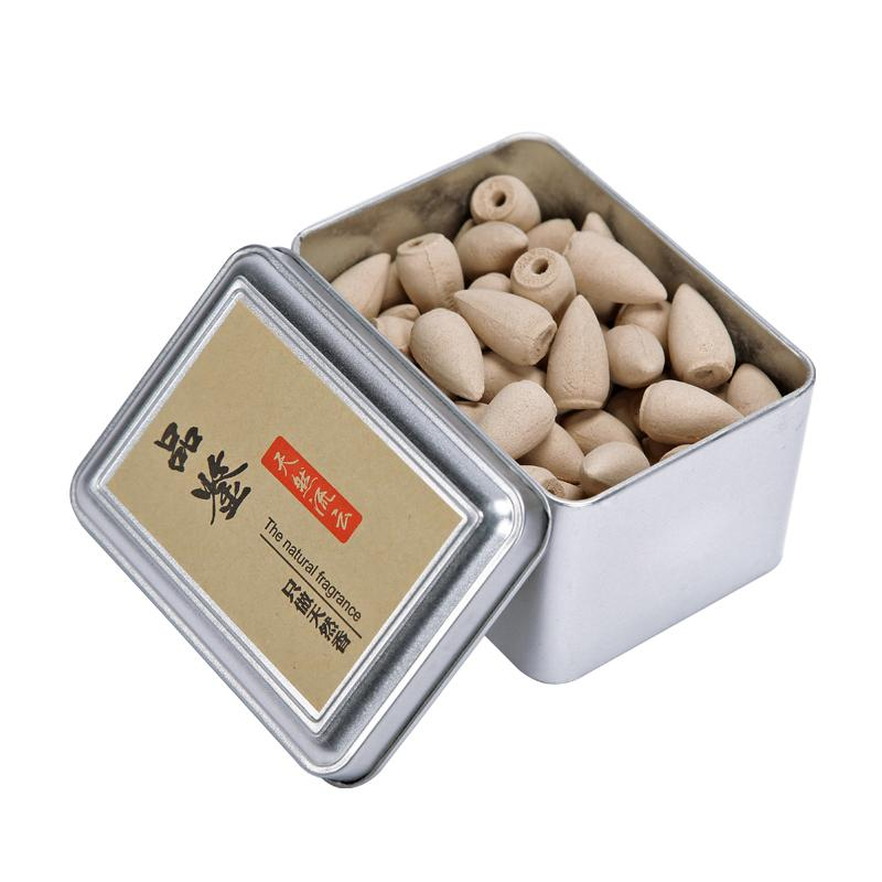80pcs Sandalwood Fragrance Backflow Incense Cones