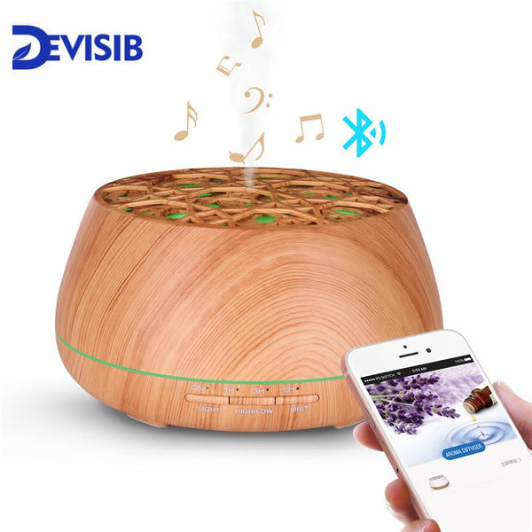 400ml Wood Grain Bluetooth Diffuser