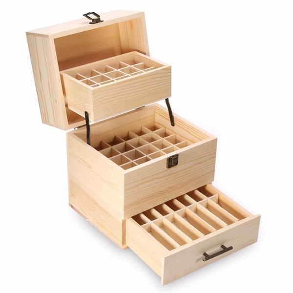 Deluxe 3 Level Wooden Essential Oil Storage Box