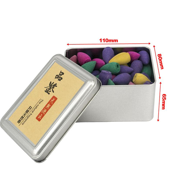 80pcs Mixed Fragrance Backflow Incense Cones