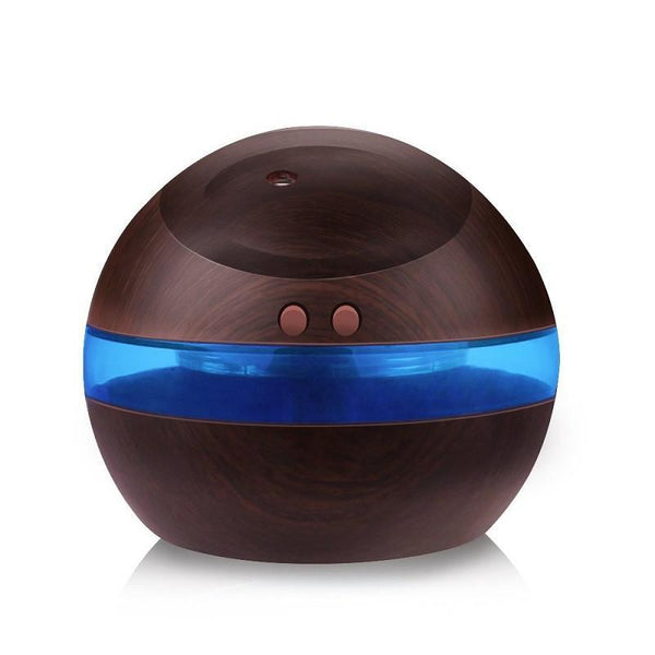 Dark Wood Grain 300ml Usb Portable Aroma Led Diffuser 5