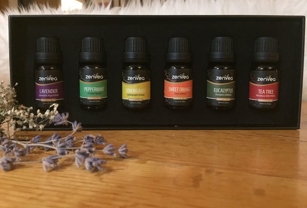 6 Piece Therapeutic Essential Oil Pack - Zenvea