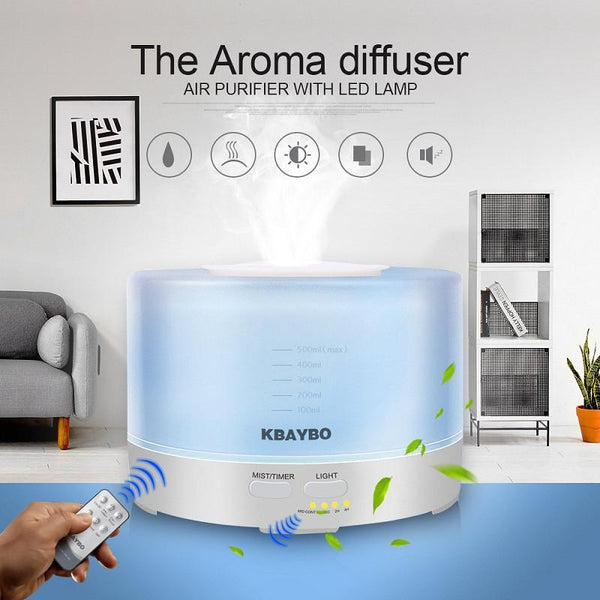 500ml Remote Control Essential Oil Diffuser