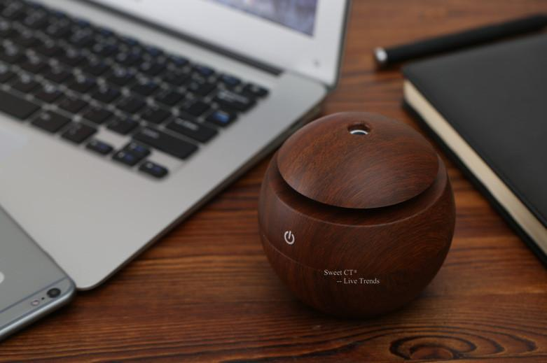 Wood Grain USB Portable Humidifier/Aroma LED Diffuser