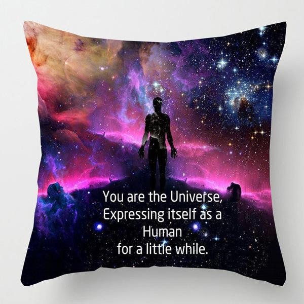 Galaxy Solar System Design Linen Throw Pillow Cover Case
