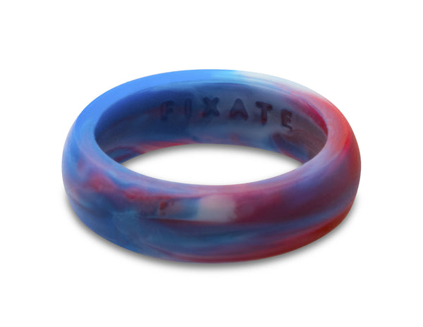 FX8 Stealth Women's Silicone Ring | Red/White/Blue Marble