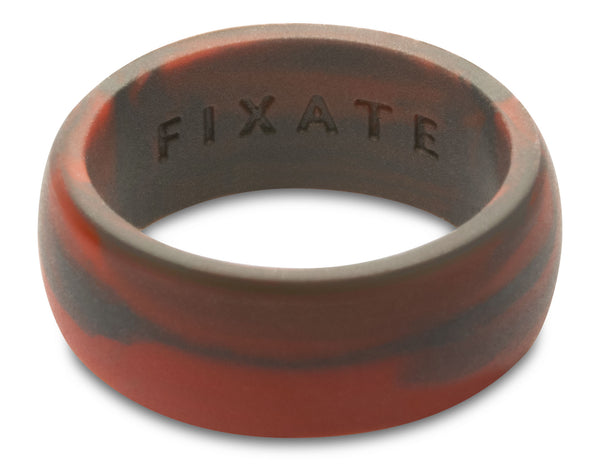 FX8 Stealth Men's Silicone Ring  | Red Marble