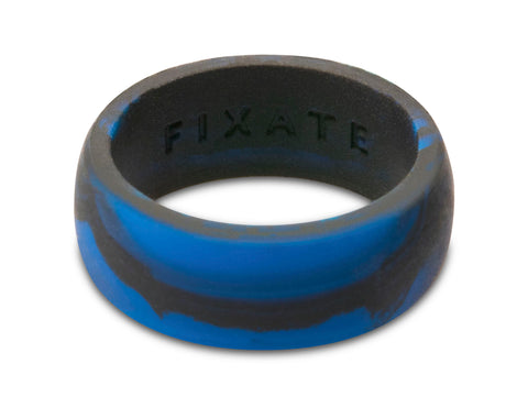 FX8 Stealth Men's Silicone Ring  | Blue Marble