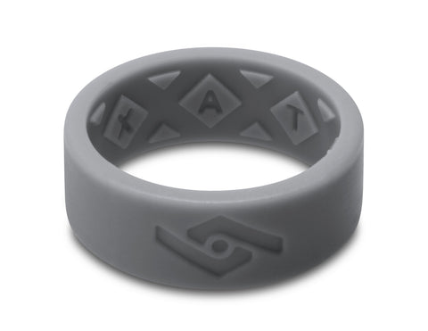 X-Vent Flattop Men's Silicone Ring | Dark Slate
