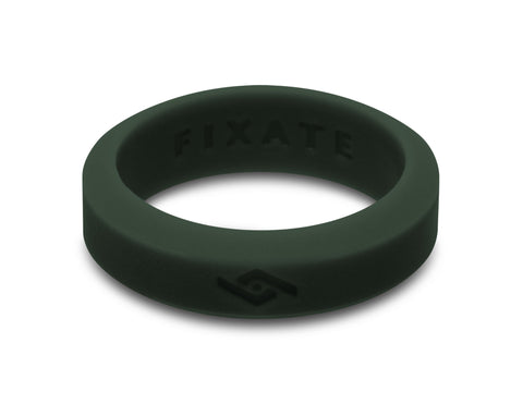 Slant Silicone Ring | Emerald
