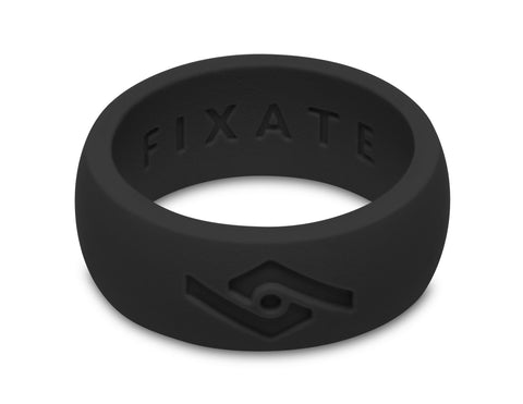 FX8 Men's Silicone Ring  | Jet Black